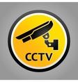 surveillance warning symbols vector image