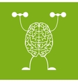Train your brain vector image