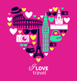 Traveling love vector image