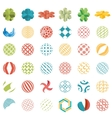 Universal spherical logos business abstract icons vector image