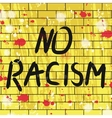 withno racism background vector image
