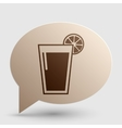 Glass of juice icons Brown gradient icon on vector image