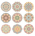 Mandalas Design Elements Colorful vector image