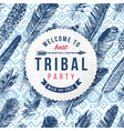 tribal party emblem vector image