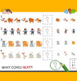 complete the pattern activity vector image