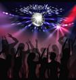 disco party dancefloor vector image