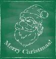 santa chalk 2016 green vector image