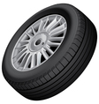 Wheel and tire isolated vector image