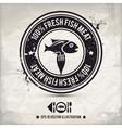 alternative fish stamp vector image