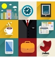 Business set of generic icons vector image