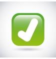 Check mark icon Button design graphic vector image