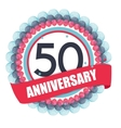 Cute Template 50 Years Anniversary with Balloons vector image