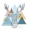 geometric reindeer vector image