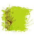 Green background with bamboo vector image