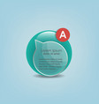 infographic glass element vector image