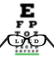 poor eyesight diagnostic vector image