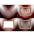 Set of Background with frames and spotlights vector image