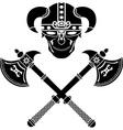 skull of the warrior vector image