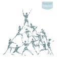 People togetherness success cooperation vector image
