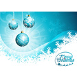 Christmas typographic design with shiny glass ball vector image