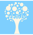 Concept tree on blue background vector image vector image