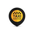 Taxi cab logo design taxi point graphic icon vector image