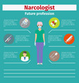 future profession narcologist infographic vector image