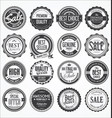 retro vintage design quality badges collection vector image