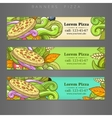 Banner advertisement pizza design vector image