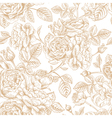seamless vintage pattern with roses vector image