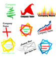 company name and logo vector image