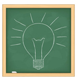 Hand drawn bulb vector image vector image
