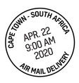 cape town postage stamp vector image
