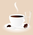cup chocolate vector image
