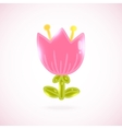 Cute cartoon tulip Flower vector image