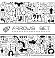 Hand drawn arrow icons set vector image