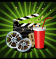 movie theme objects vector image