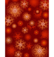 red background with snowflakes suitable for wrappi vector image