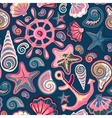 Seashell seamless pattern - vector image