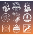 Set logos and Badges Rap Music vector image
