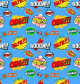 Wow seamless pattern Seamless pattern with comic vector image