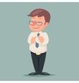 Businessman Fold Arms Character Icon Retro Cartoon vector image vector image