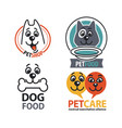 vet shops veterinary clinics and homeless animals vector image