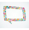 Social media icons isolated speech bubble EPS10 vector image