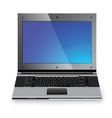Stylish professional icon of the laptop vector image
