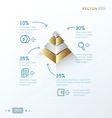 gold 3D pyramid vector image vector image