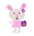 Pink easter bunny vector image
