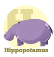 ABC Cartoon Hippopotamus4 vector image