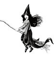 Little girl witch vector image vector image
