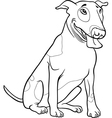 bull terrier dog for coloring book vector image